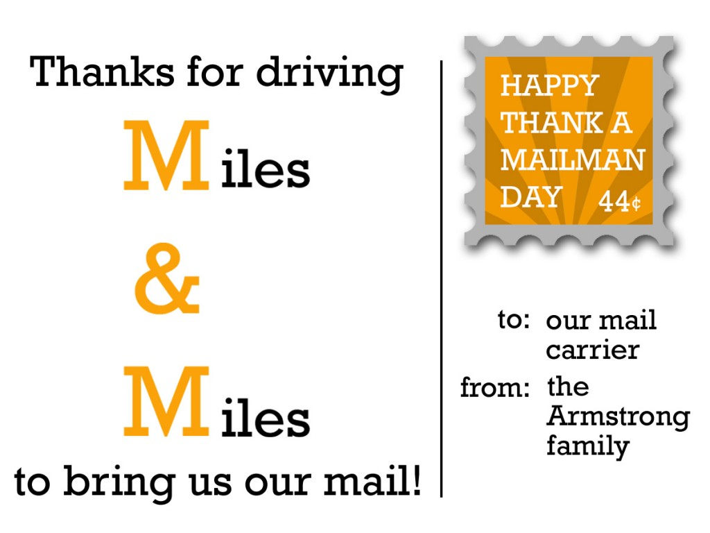 mailman thank you cards thank you letter  postable
