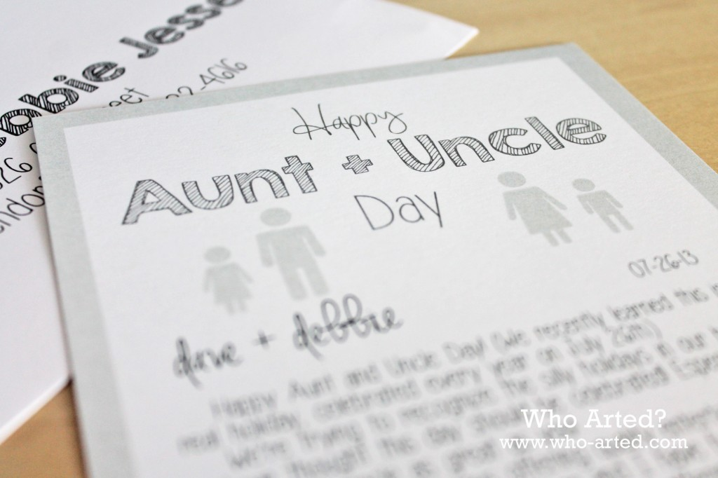 aunt and uncle day cards printable who arted. Black Bedroom Furniture Sets. Home Design Ideas