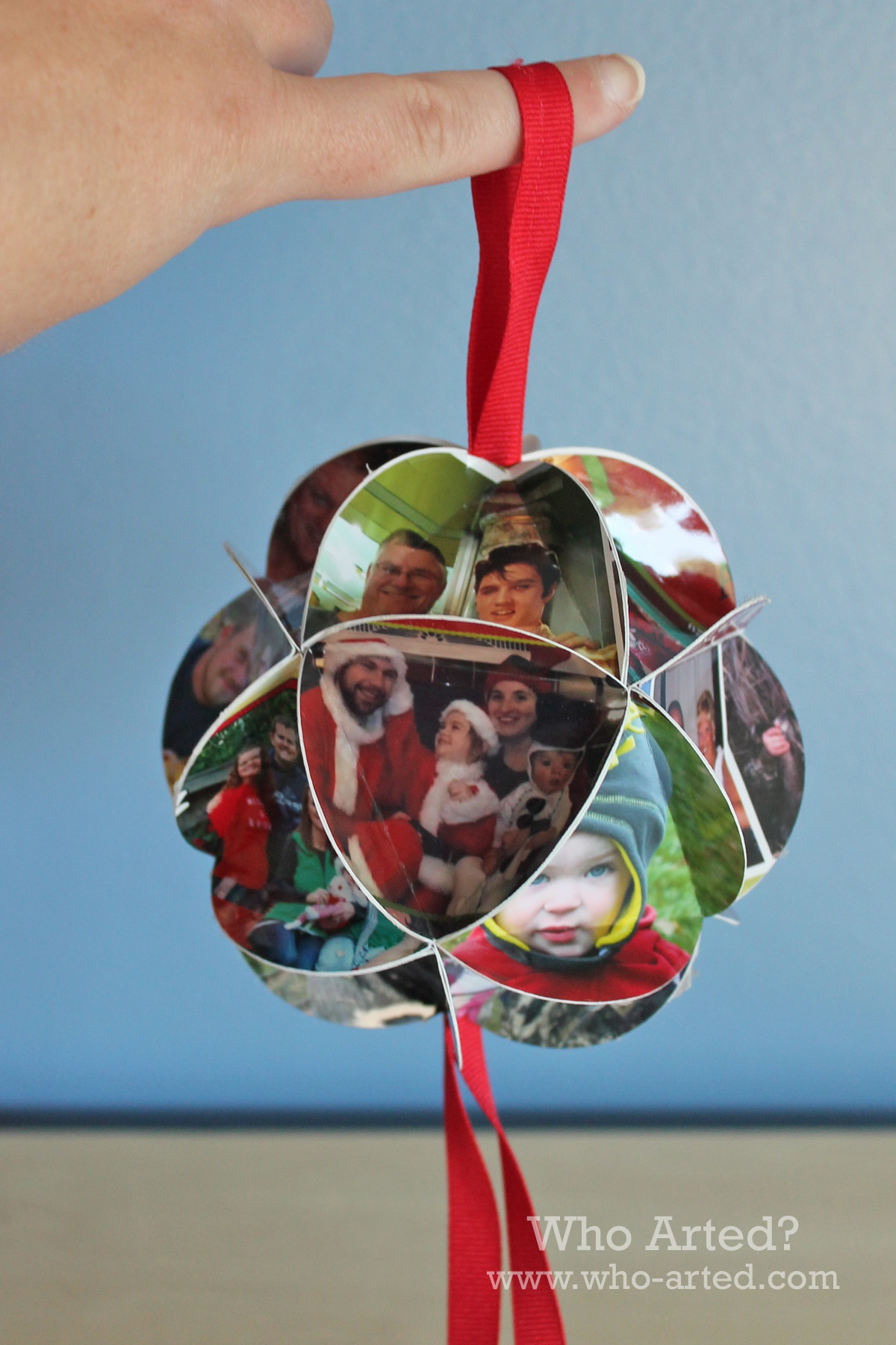 Christmas Card Ornament: Step-by-Step Instructions - Who ...