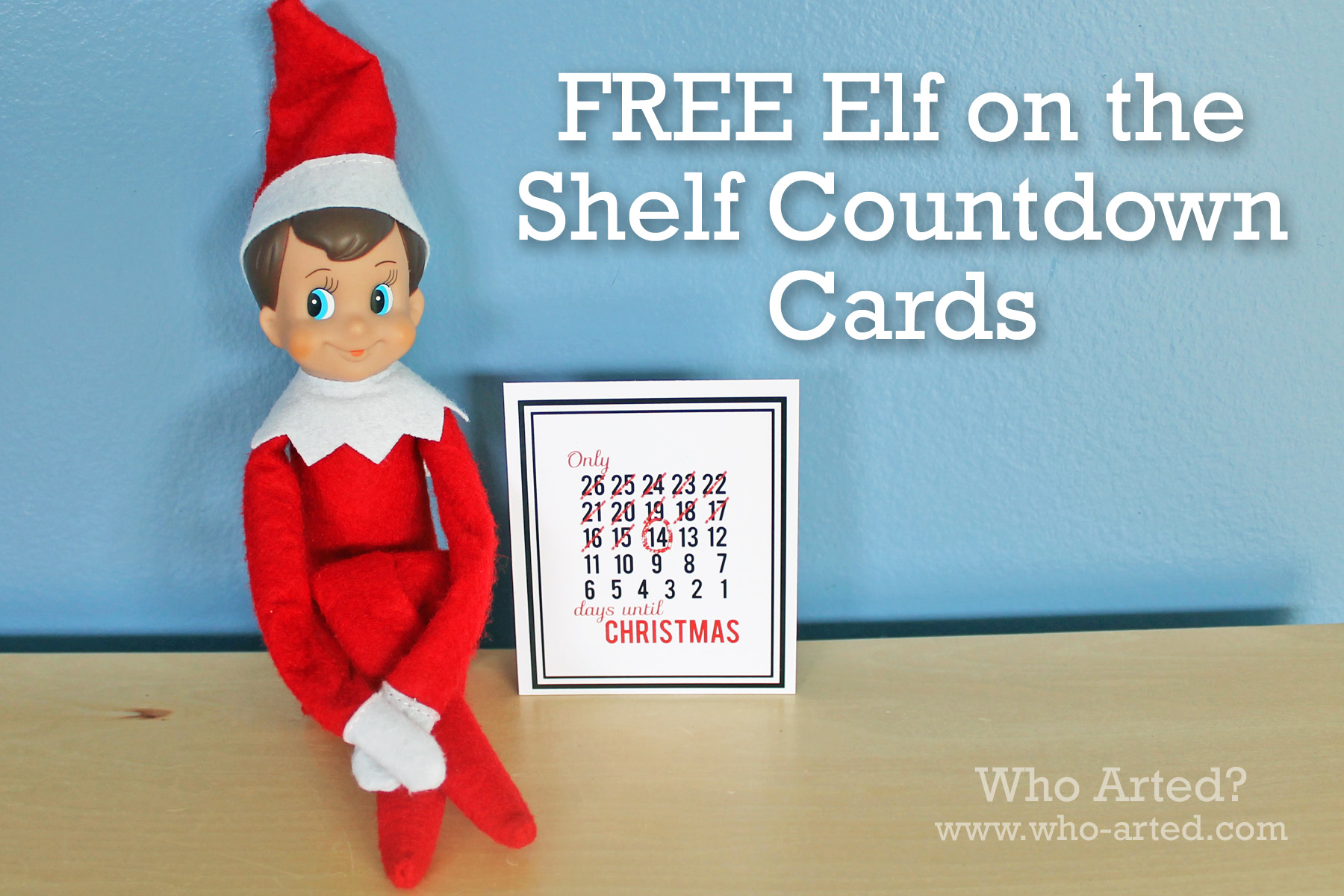 Elf On The Shelf Countdown Cards