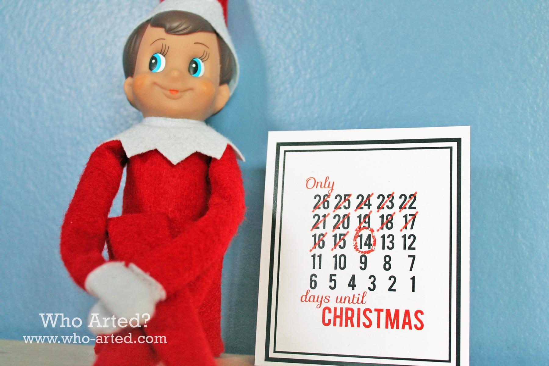Free Elf on the Shelf Printables - Who Arted?