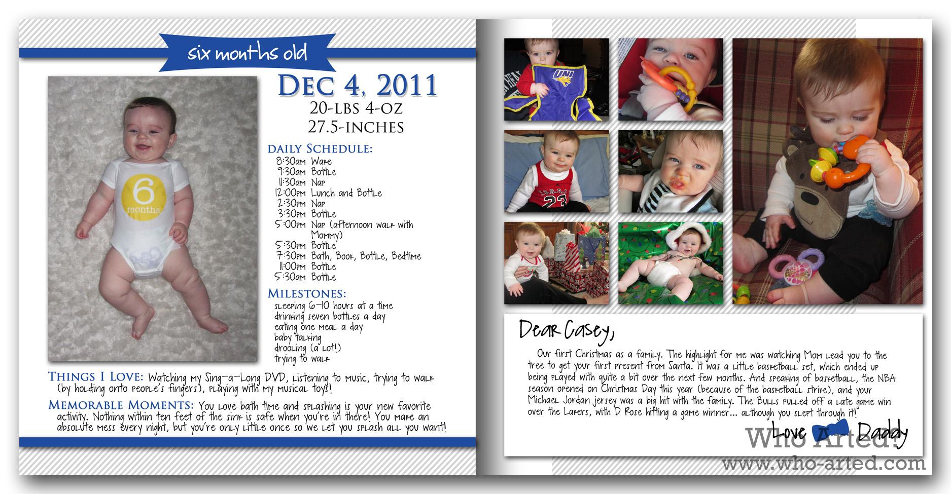 Scrapbook ideas baby milestones - Baby Book Ideas Monthly Milestones