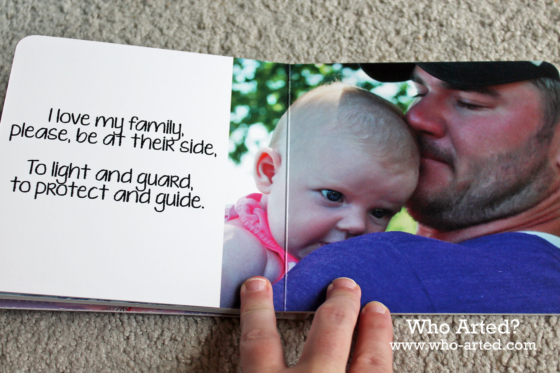 personalized board book baptism gift who arted