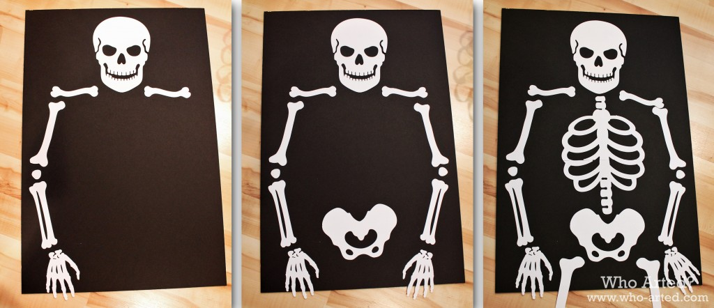 Как сделать в бумаги скелет руками 440