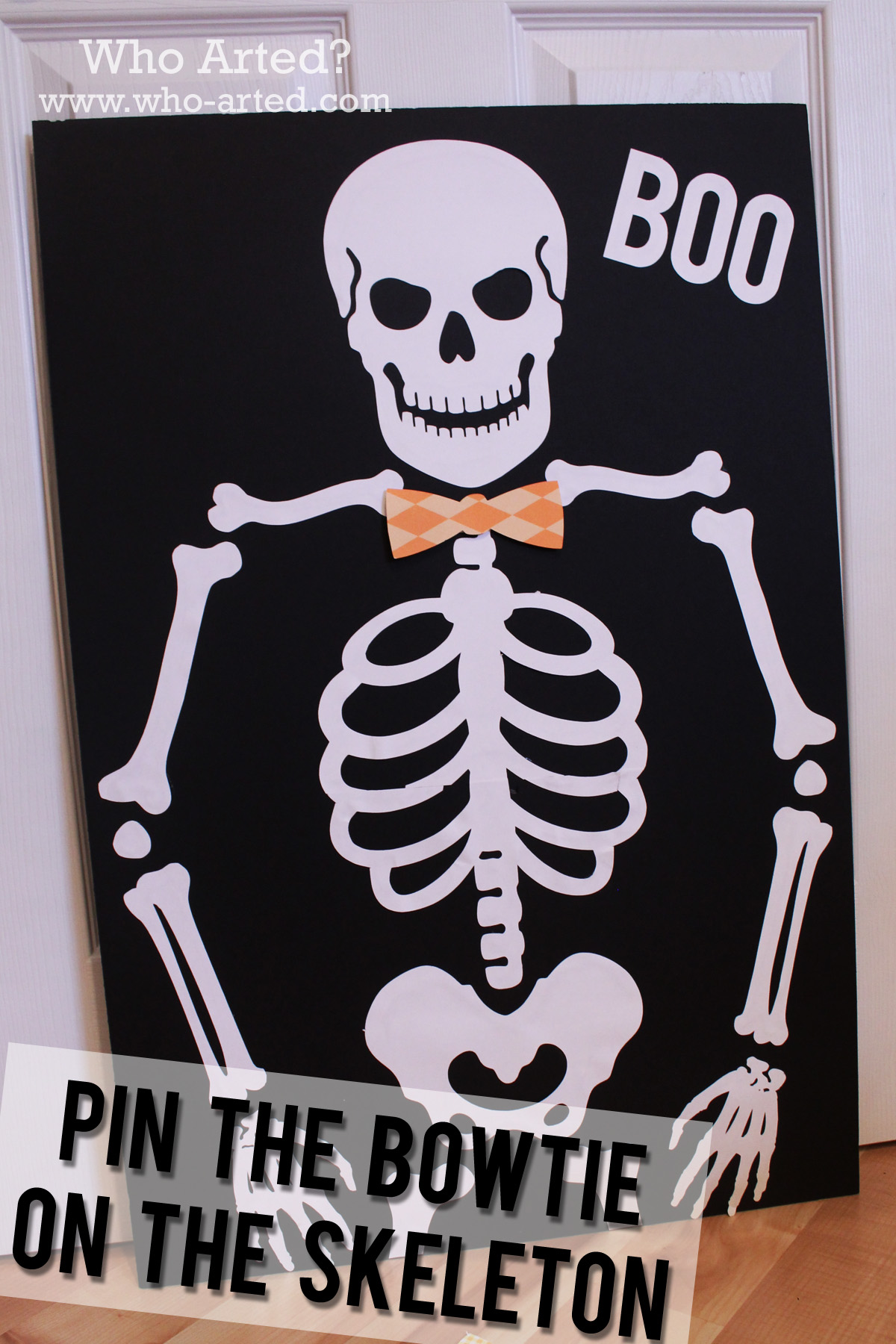 Halloween Games For Kids Pin The Bowtie On The Skeleton Who Arted