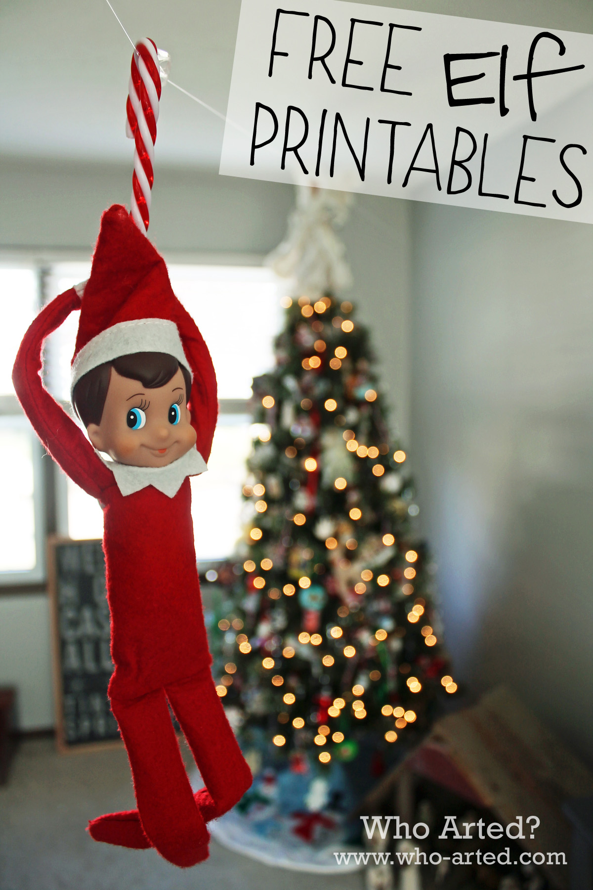 This is an image of Adaptable Printable Elf on the Shelf