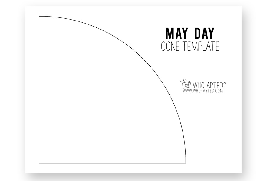 Cone Paper Template | May Day Cone Who Arted 011