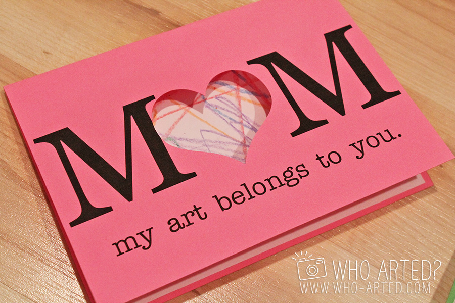 Mother 39 s day cards fun art project Good ideas for mothers day card