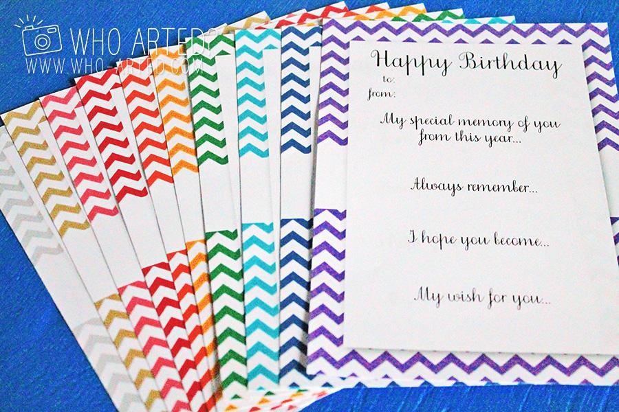 birthday envelope countdown