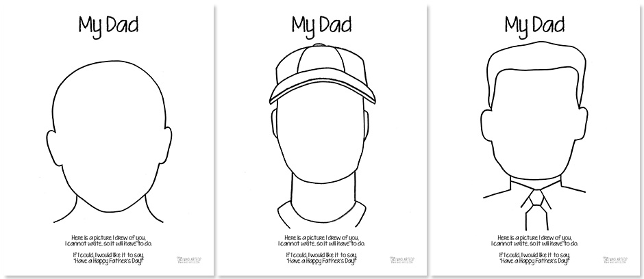 Fatheru0027s Day Coloring Page Who Arted 01