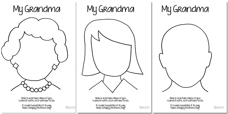 Free Grandma Coloring Pages | Coloring Page