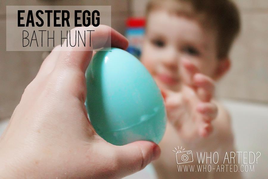 Easter Egg Bath Hunt Who Arted 11