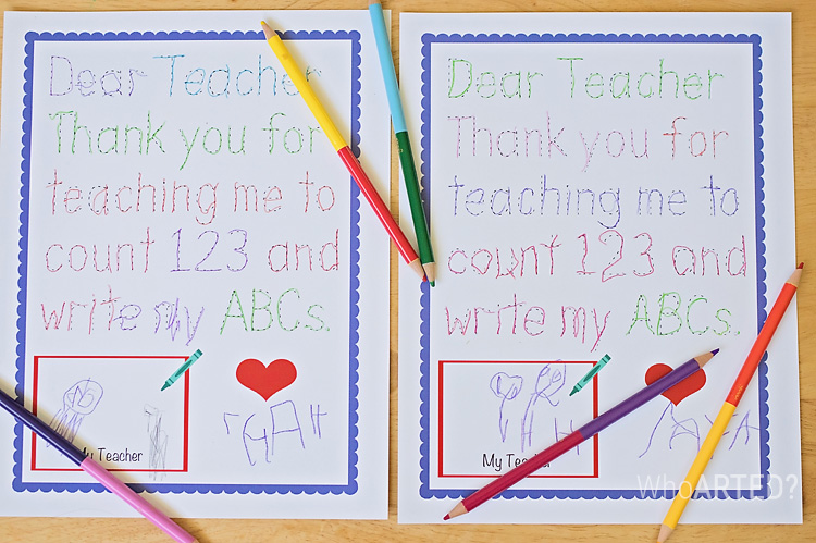 Traceable Teacher Appreciation Thank You on Create Your Own Traceable Name