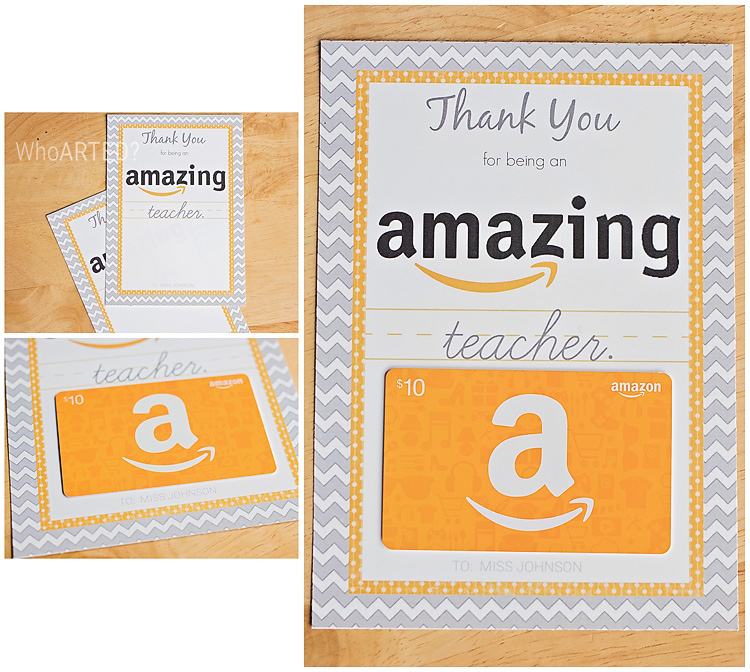 Teacher Appreciation Week Amazon Gift Card