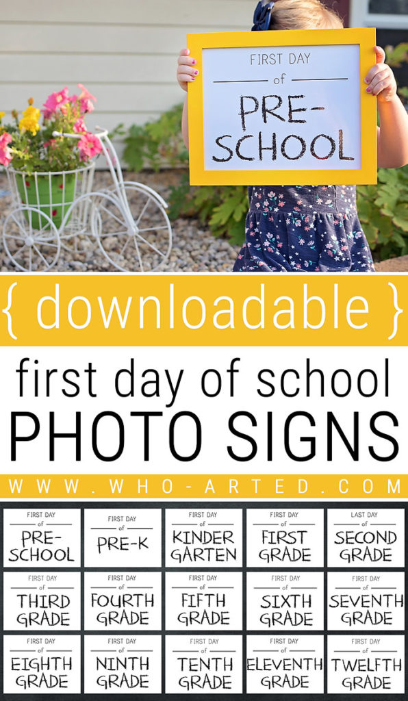 First and Last Day of School Photo Signs