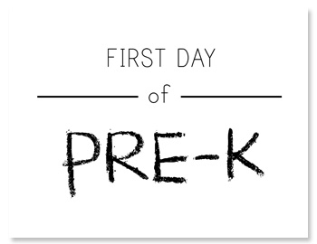 It is a picture of Breathtaking First Day of Pre K Printable Sign