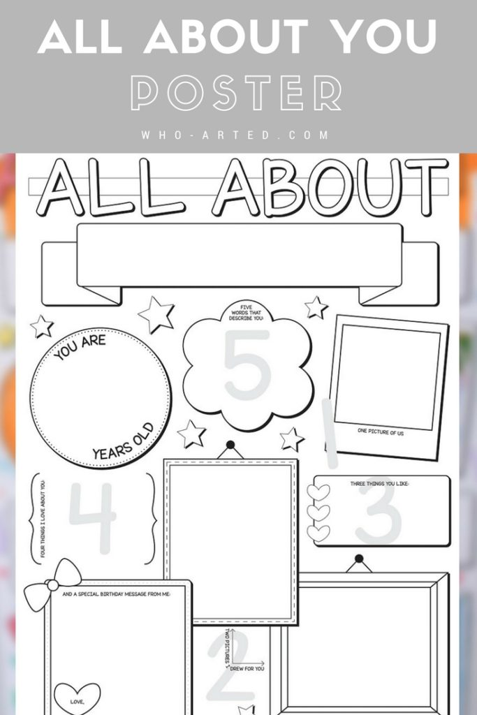 All About You Birthday Poster