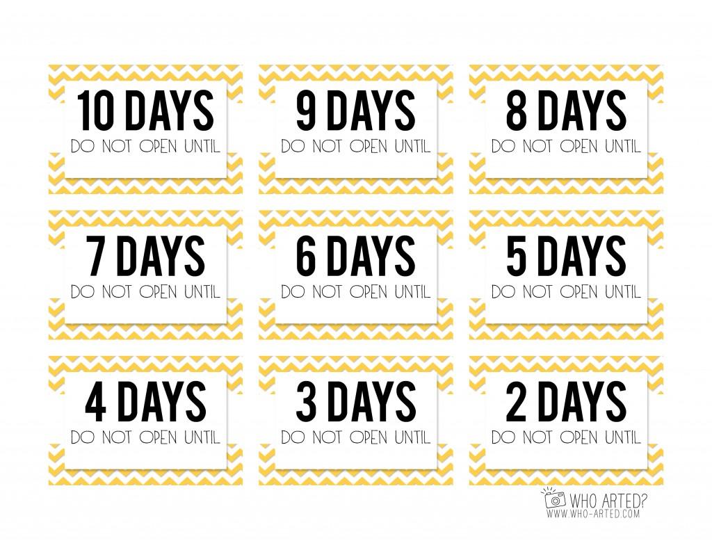 1024 X 791 Jpeg 173kB Birthday Countdown Cards Mini Yellow Who Arted