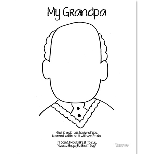 Fathers day coloring page grandpa who arted for Fathers day coloring pages for grandpa